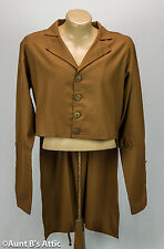 Steampunk Coat Men's Cocoa Brown Single Breasted Laced Back Victorian Costume
