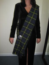"Ladies OR Mens GORDON Scottish Tartan Sash Scarf 88"" X 11"""