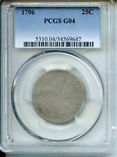 1796 Draped Bust Silver Quarter PCGS G04 25c Coin JB230