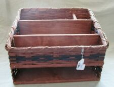 Amish made Desk Organizer Made in the USA Handwoven