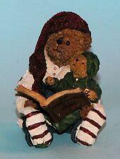 """Boyds Bears resin """"Elvin with Ollie.Holiday Classics"""" # 228452 elf Nib 2003"""