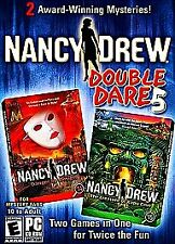 Nancy Drew: Double Dare 5 (4 CD-Rom, PC Video Game, 2008) Mystery 14-15 Set