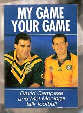 RUGBY LEAGUE & UNION BOOK - DAVID CAMPESE (SIGNED) and MAL MENINGA