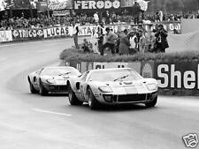 Ford GT40s Gulf Le Mans 1968 10x8 Photo