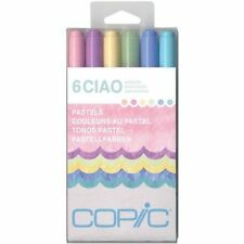 Copic Marker Ciao Markers- Pastels- 6-Pack FREE FAST SHIPPING- Brand NEW