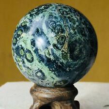 175g Natural Green kabamba kasper Crystal Sphere Ball Healing Stromatolite