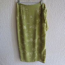 Ann Taylor Silk Vintage Silk Skirt M 8 10 Wrap Lined 12 Green Long Maxi