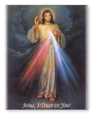 JESUS DIVINE MERCY CANVAS PICTURE - CANDLES STATUES CRUCIFIXES ARE ALSO LISTED