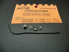 Parts by Parks 90141/25 Pulley Set 1937 Ford & SB Chevy (Spun Aluminum)