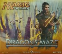 MAGIC THE GATHERING  FACTORY SEALED  DRAGON'S MAZE FAT PACK