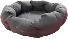 Heated Pet Bed, Cat, Dog, Puppy, Kitten Electric Heated Pad, Mat Two Tone Grey