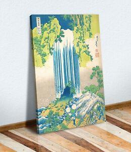 Hokusai Yoro Waterfalls CANVAS WALL ART CANVAS ARTWORK PRINT PICTURE Japanese