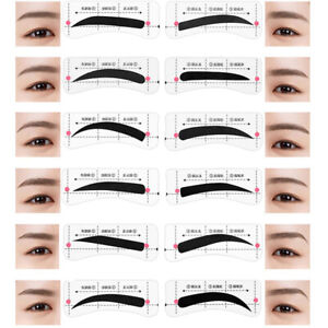 24 Pairs Eyebrow Stencil Professional Card Template Eyebrow Makeup Sticker To`Z