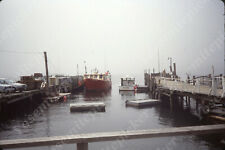 sl11 Original Slide 1960's ? Maine Boat harbor 515a