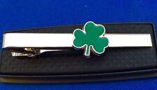 Shamrock Irish Tie Clip Clover Tie Bar Tie Clasp St. Patricks's Day Gift New