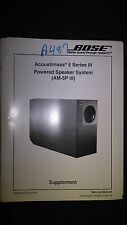 Bose Service Manual Powered Acoustimass-5 Series III Speaker System am-5p III