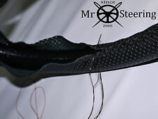 FOR MERCEDES W124 84+ REAL PERFORATED LEATHER STEERING WHEEL COVER DOUBLE STITCH