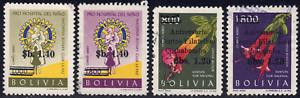 1966 Bolivia SC# C268-C271 - F - International Rotary - Overprinted - Used