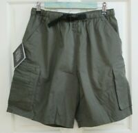 NWT Outer Rim Mens Size M Dark Olive Green Active Cargo Shorts 41-19334