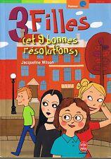 3 filles et 9 bonnes Résolutions * Jacqueline WILSON *roman jeunesse livre poche