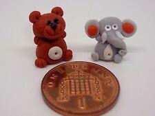 2 x  Hand Made Polymer  Dolls House Miniature Nursery -Toy , Td