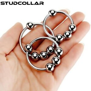 STUDCOLLAR-GLANS-RING - Stainless Steel 4 Ball Penis Rings in SIX SIZES !!!