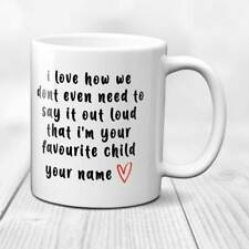 Personalised Fathers Day Birthday Mug/Cup - Favourite child Funny in Gift Box