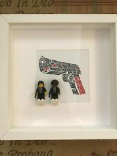Lego scene from ' Pulp Fiction ' with Vincent and Jules in picture frame