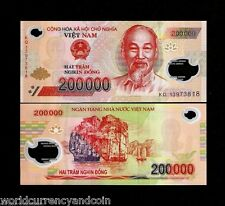 VIETNAM 200000 200,000 DONG P123 2013 POLYMER HCM BOAT UNC CURRENCY BANK NOTE