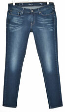Levis SKINNY Slight Curve Low Rise Dark Blue Stretch Jeans Size 14 W32 L32