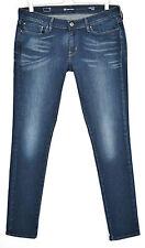 Levis Skinny leve curva Tiro Bajo Jeans Elástico Azul Oscuro Talla 14 W32 L32