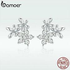 US Center Women S925 Sterling silver Stud Earring Gypsophila With AAA CZ Jewelry