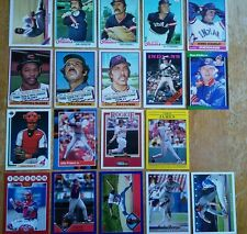 Cleveland Indians 19 Baseball Trading Card Set
