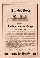 AD LOT OF 3 1914 - 17A   ADS  STANLEY JOINTER GAUGE IRON PLANE  386 MITRE BOX