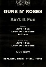 13/11/93PGN02 GUNS N ROSES : AIN'T IT FUN SINGLE ADVERT 15X11""