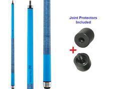 Viper Colours 50-0952 Barbados Blue Pool Cue Stick 18-21oz & Joint Protectors