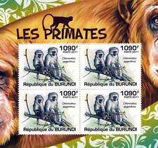 VERVET MONKEY African Primates Stamp Sheet #2 of 5 (2011 Burundi)