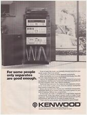 Original 1978 Kenwood Stereo Systems Vintage Print Ad
