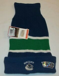 NHL Vancouver Canucks Toboggan Hat By Reebok - Youth One Size Fits Most