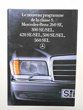 Catalogue MERCEDES-BENZ Classe S