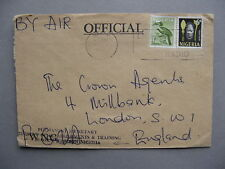 NIGERIA, cover to England mixed franking, ao bird Hornbill