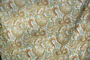 """Montero Lustrous in Spa Printed Cotton Drapery Fabric by Mill Creek 3.75 yds 54"""""""
