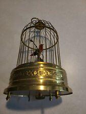 Vintage German Bird Cage Music Box Working Singing Bird