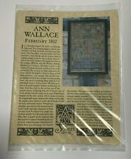 The Scarlet Letter Cross Stitch Chart Ann Wallace February 1817 Repro Sampler