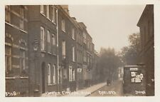 London Real Photo Postcard. Upper Cheyne Row, Chelsea . Johns! Sign! Fine! c1915