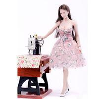 """Dekoration 1/6 Scale Female Elegantes Blumenkleid Hot Weibliche Figur Körper 12"""""""