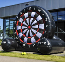 Giant Dartboard Commercial inflatable  5m x 5m(17ft) and 6 x Darts Footballs
