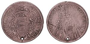 K.045} CROATIA Ragusa Dubrovnik 1 tallero 1774 / New Vizlin / Silver / holed