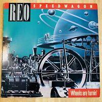 REO Speedwagon - Wheels Are Turnin'- Vinyl Record LP - 1984 Epic QE 39593