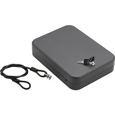 Hand Gun Safe Lock Box Portable Car Pistol Cash Money Jewelry Security Case